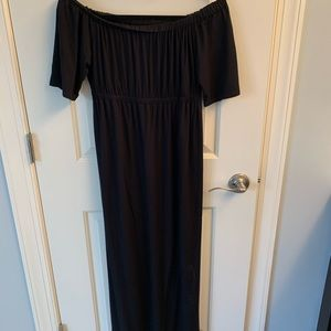 Off the shoulder maternity maxi dress size 2